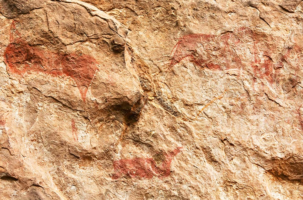 The Saraakallio rock paintings